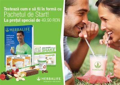 Pachet start herbalife 49,9 lei